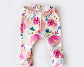 baby girl, baby girl leggings, girl leggings, flower leggings, newborn girl  leggings SAROHHI