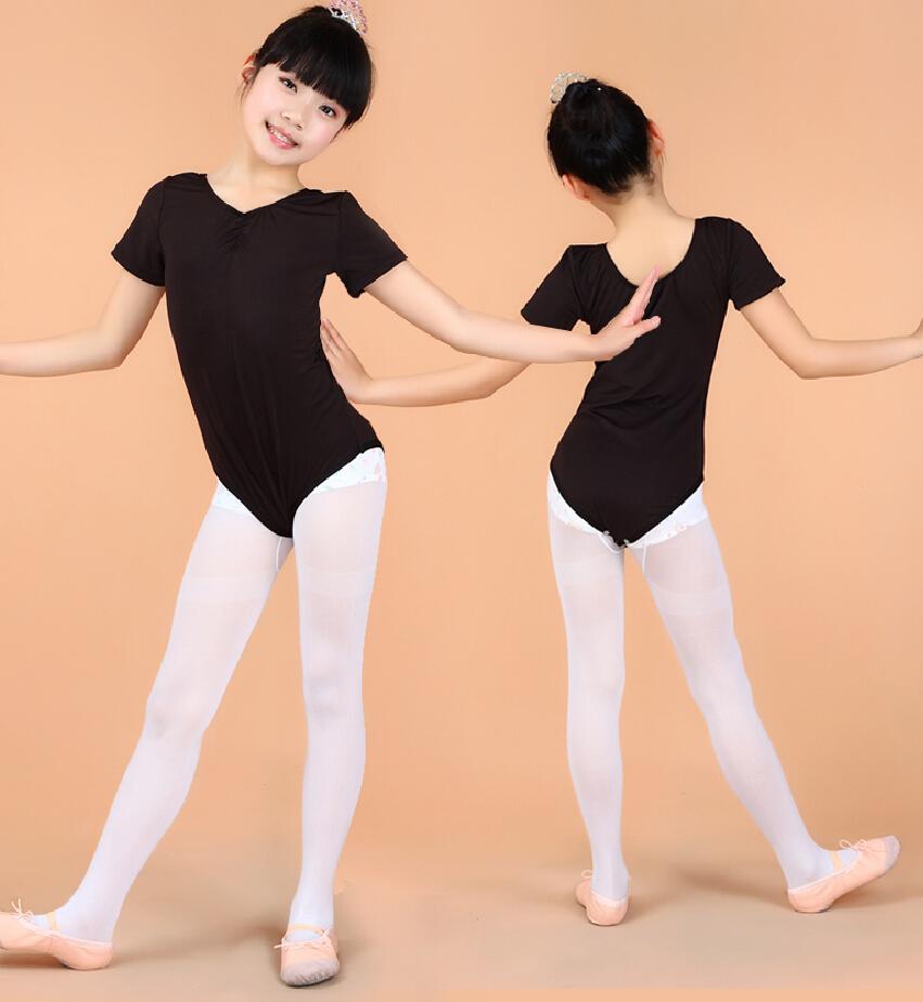ballet clothes free shipping 2-15y girl kids ballet dance dress v-neck disfraz infantil  spandex AHMEBZW