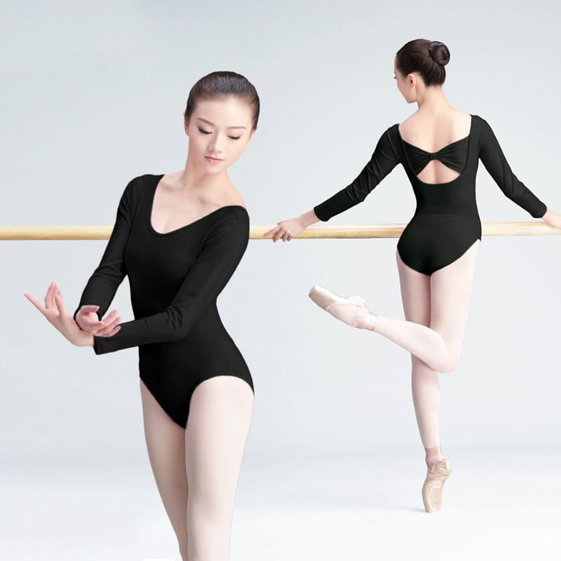 ballet clothes long sleeve sexy women gymnastics leotard lady black ballet suit adult dance  practice clothes RKITREJ
