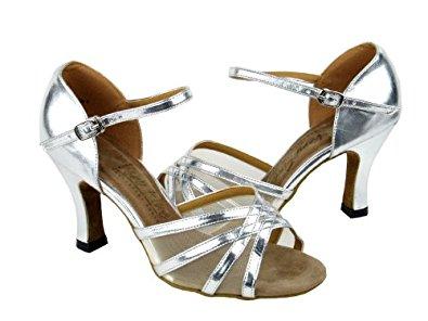 ballroom shoes very fine ladies women ballroom dance shoes for latin salsa tango classic  6027 silver KSALIAP