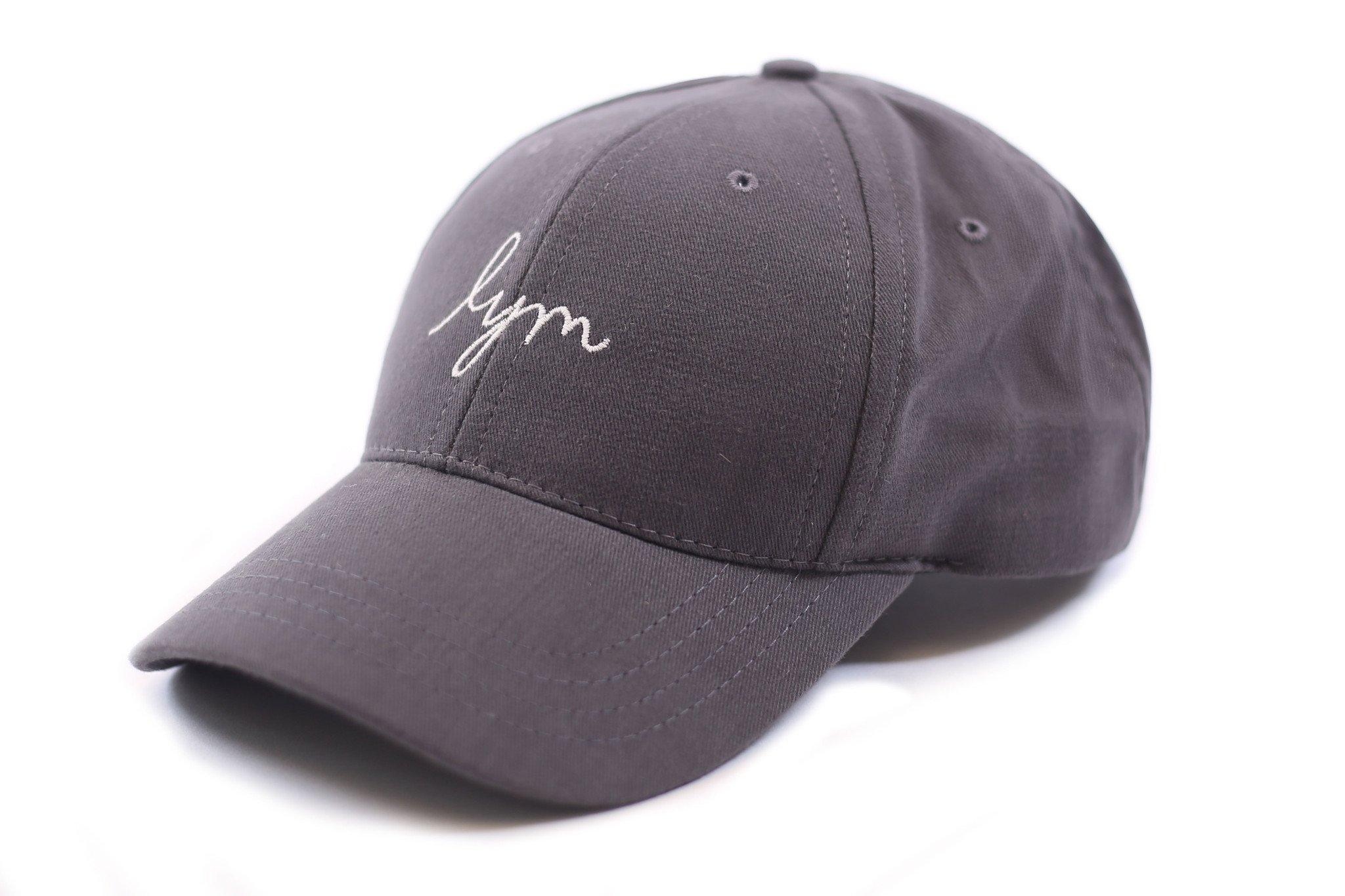 baseball caps gray cap - cursive logo DKGUXBT
