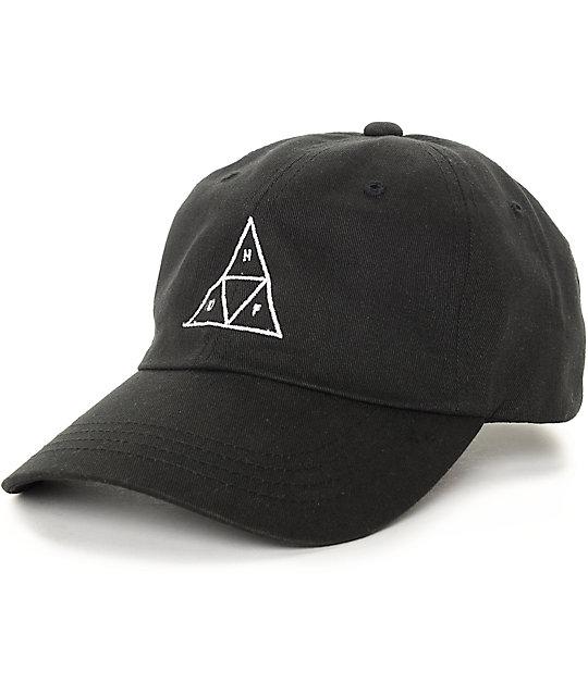baseball caps huf triangle black baseball strapback hat BTORXCV
