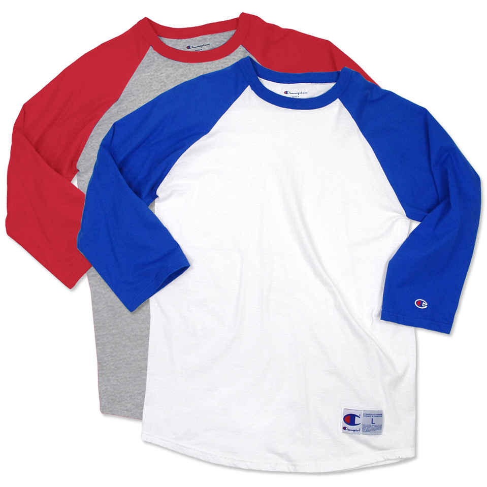 baseball tees design custom printed champion baseball raglan shirts online at customink MWGOLIN