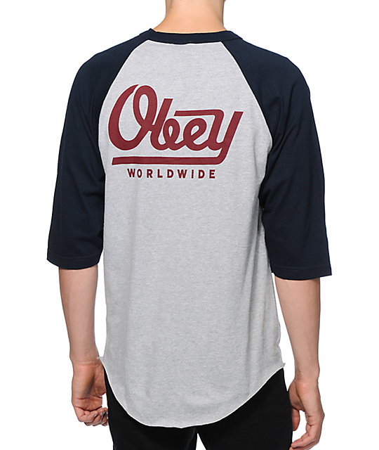 baseball tees obey le worldwide baseball t-shirt UMFSOJP