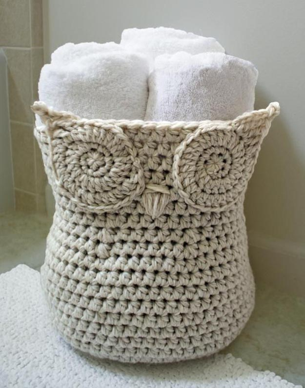 beginner crochet patterns crochet owl basket | 17 amazing crochet patterns for beginners RYLZPYD