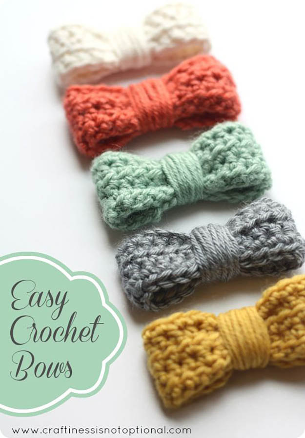 beginner crochet patterns easy crochet bows | 17 amazing crochet patterns for beginners VCMEWLE