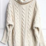 Cable knit sweater for comfort
