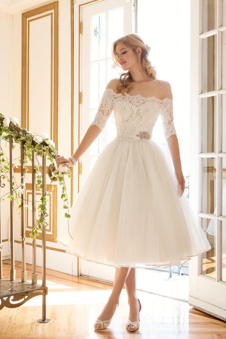 best 25+ short wedding dresses ideas on pinterest | white short wedding  dresses, tea NSJOXUL
