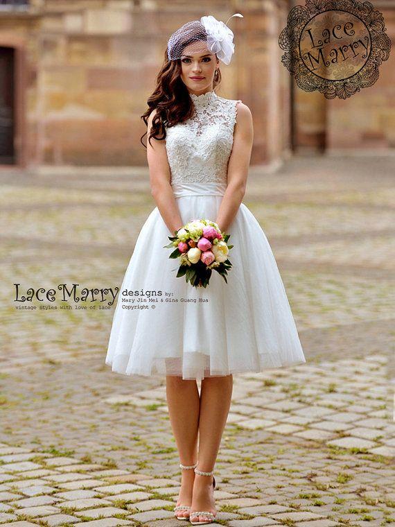best 25+ short wedding dresses ideas on pinterest | white short wedding  dresses, tea RWLHCQH
