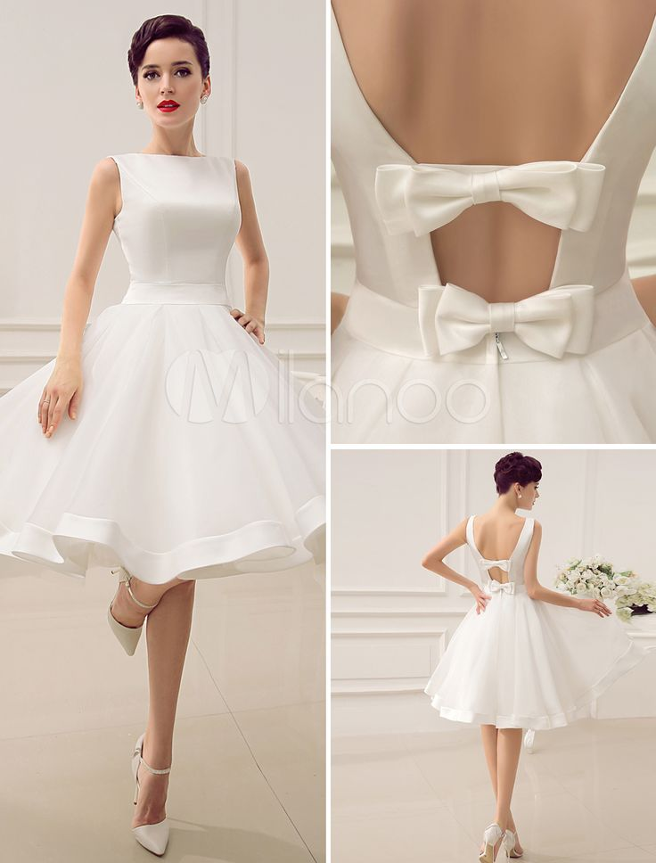Alluring short wedding dress is the main course of the ceremonies
