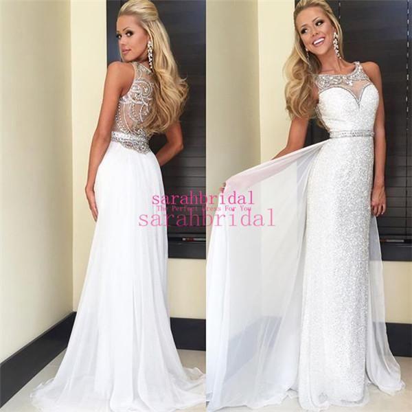 best 25+ white prom dresses ideas on pinterest | cheap long white dresses,  leavers LQNMUIH