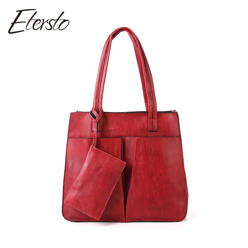 big handbags etersto brand 2017 new fashion women leather pu handbags female big bags  luxury ladies AITXZPE