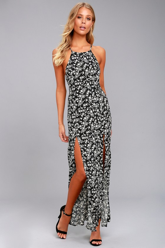 black and white maxi dress sadie jane black floral print maxi dress 1 GQIPTUK