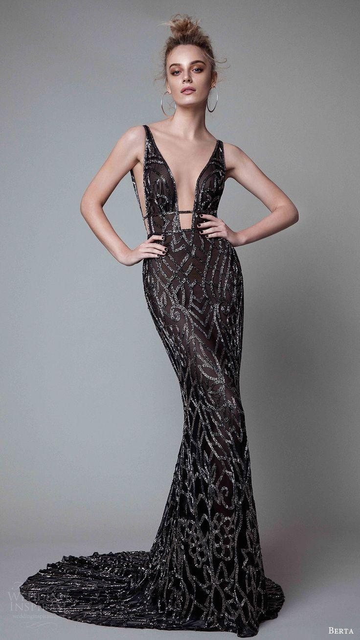 black evening dresses berta fall 2017 ready-to-wear collection. black evening dressesevening ... YBXSUOX