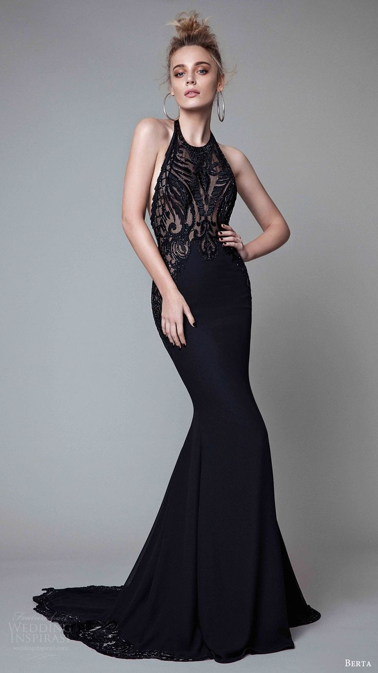 The beautiful black evening dresses