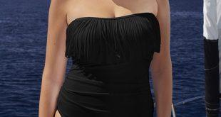black fringe bandeau swimsuit IRWOSRU