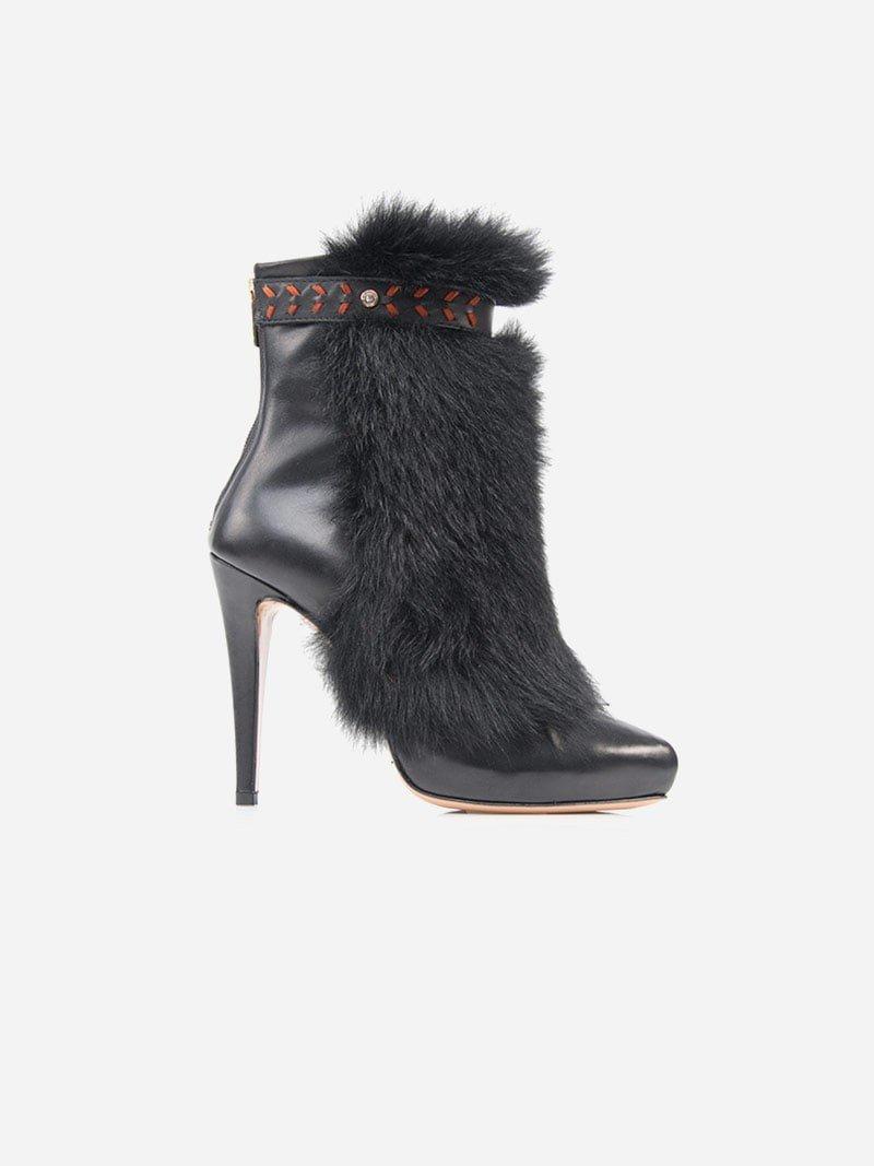 black furry boots PACZGOJ