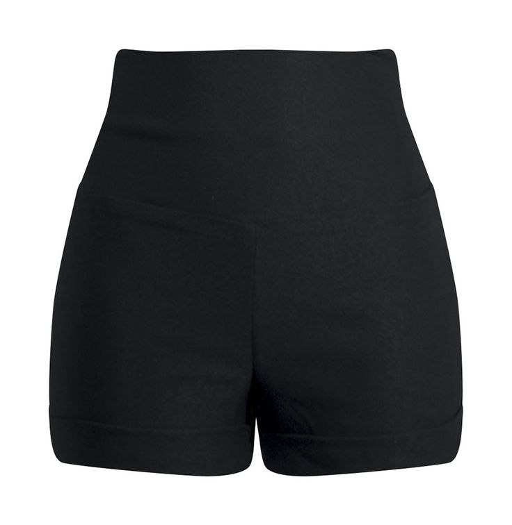 black high waisted shorts bow back high waisted shorts - black PESFRQL
