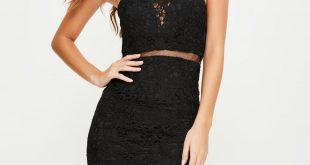 black lace dress black lace strappy 2 piece midi dress GDHVKKB