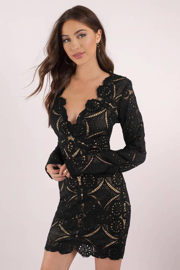 black lace dress lace is more black bodycon dress FLRTXMI