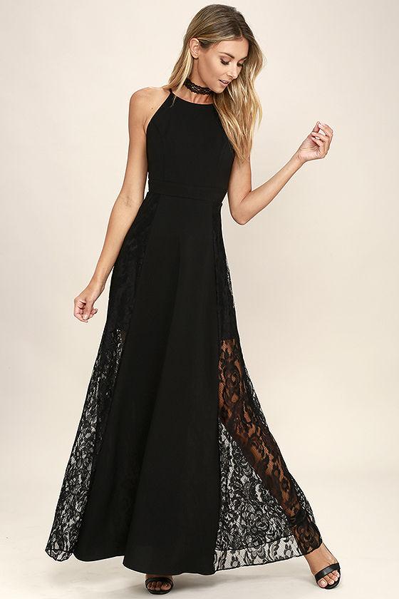 black lace maxi dress 1 PXYNQNI