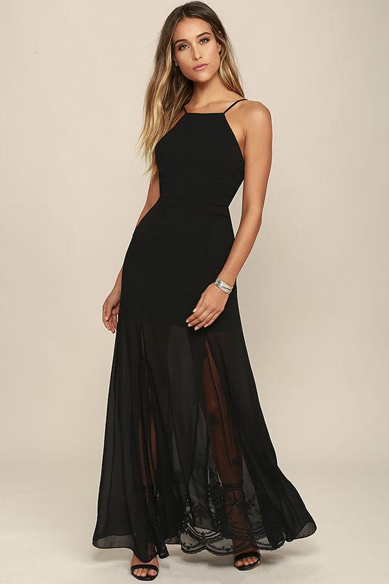 black lace maxi dress lovely black dress - maxi dress - lace dress - backless dress - $103.00 GEOGUGV