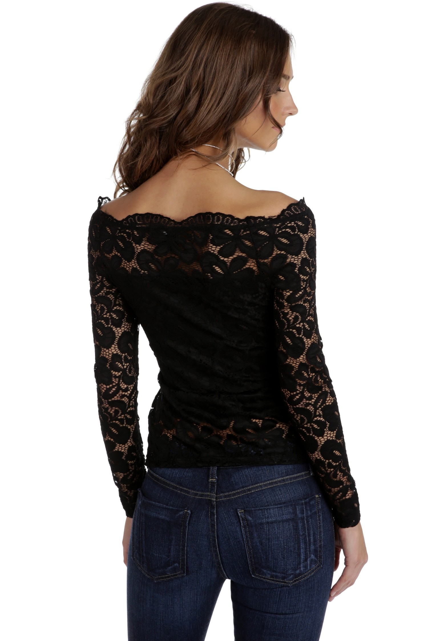 black lace tops final sale- black cover me in lace top GTWGPKC