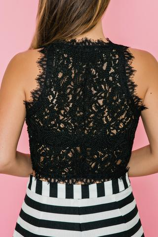 black lace tops leighton black lace top MACSTIQ