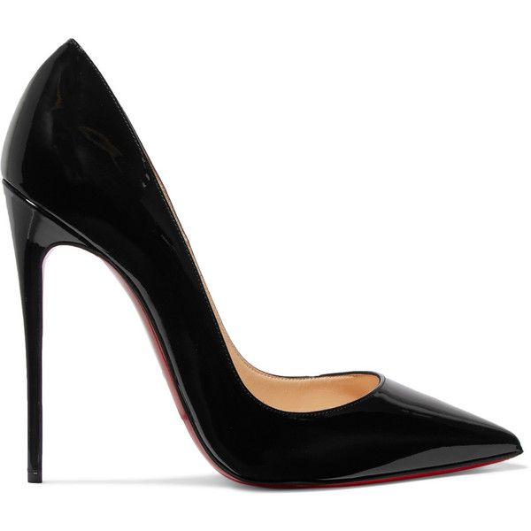 black pumps christian louboutin so kate 120 patent-leather pumps (u20ac505) ❤ liked on BCOXDDN
