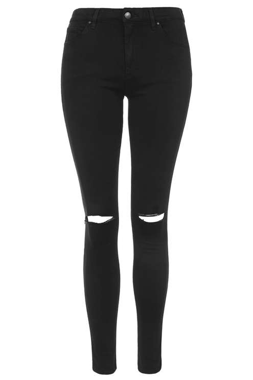 black ripped skinny jeans moto black ripped leigh jeans - topshop usa QZDCEKC