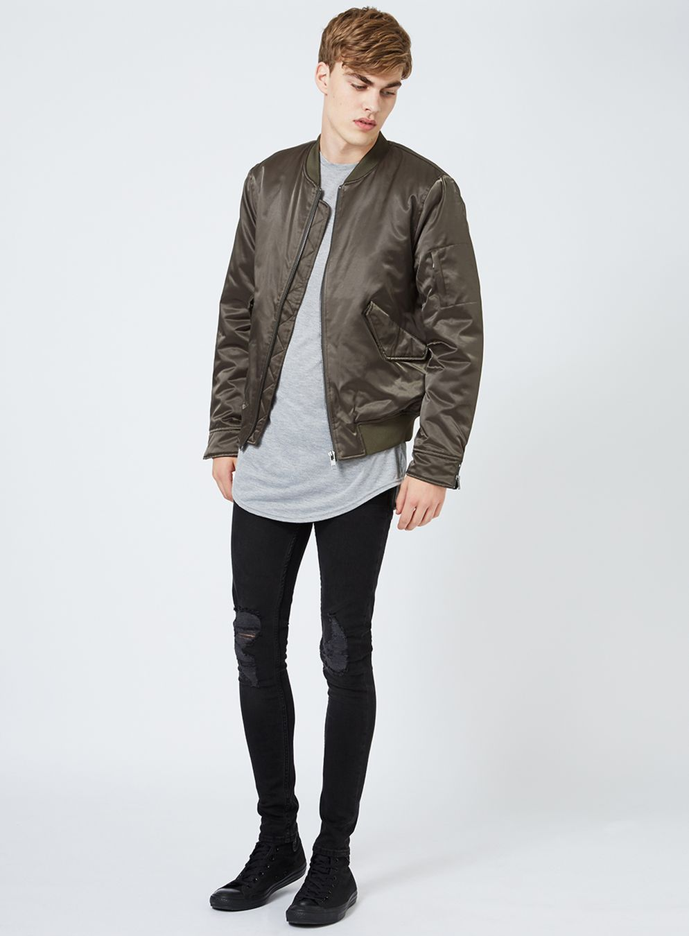black ripped skinny jeans washed black ripped spray on skinny jeans - topman usa SGFXGIK