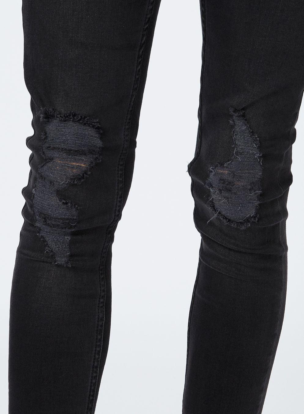 black ripped skinny jeans washed black ripped spray on skinny jeans - topman usa SITAJNI