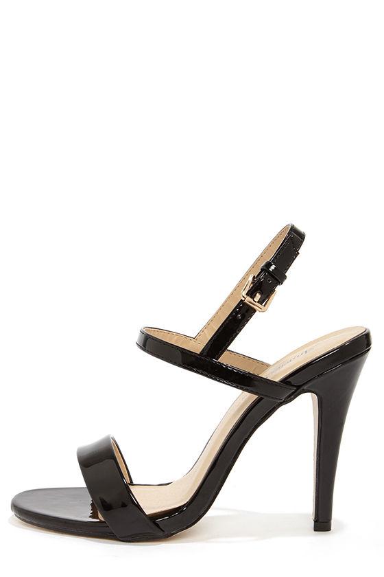 black strappy heels cute black heels - strappy heels - dress sandals - $41.00 ORJIJSA