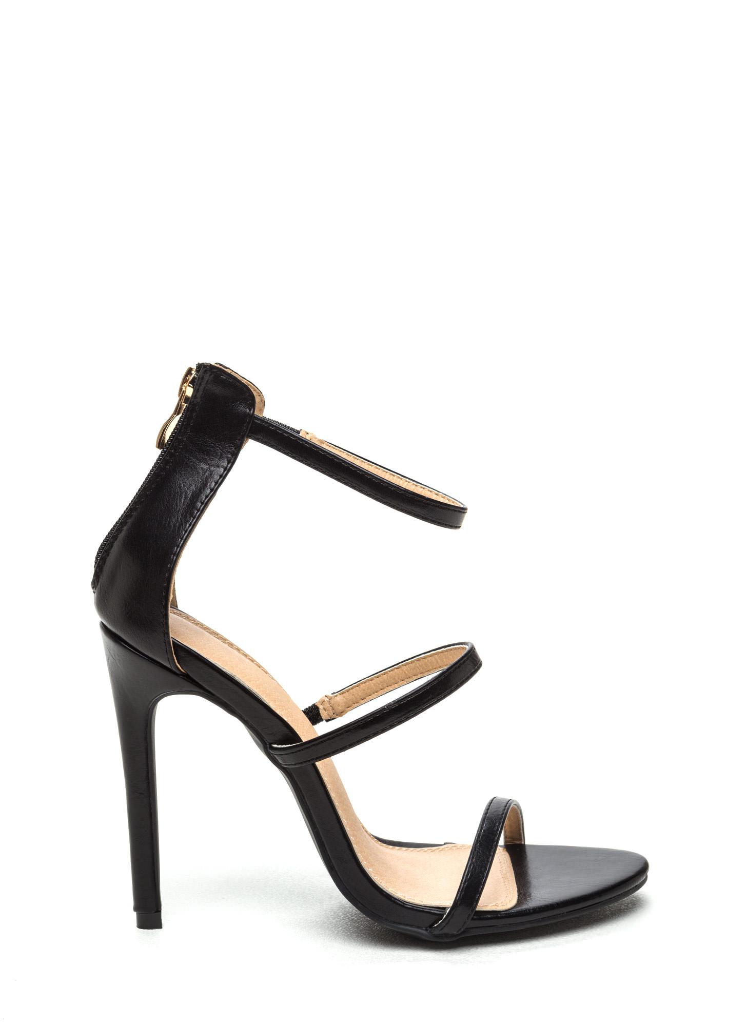 black strappy heels strappy life single-sole heels black ... SCVRWSG