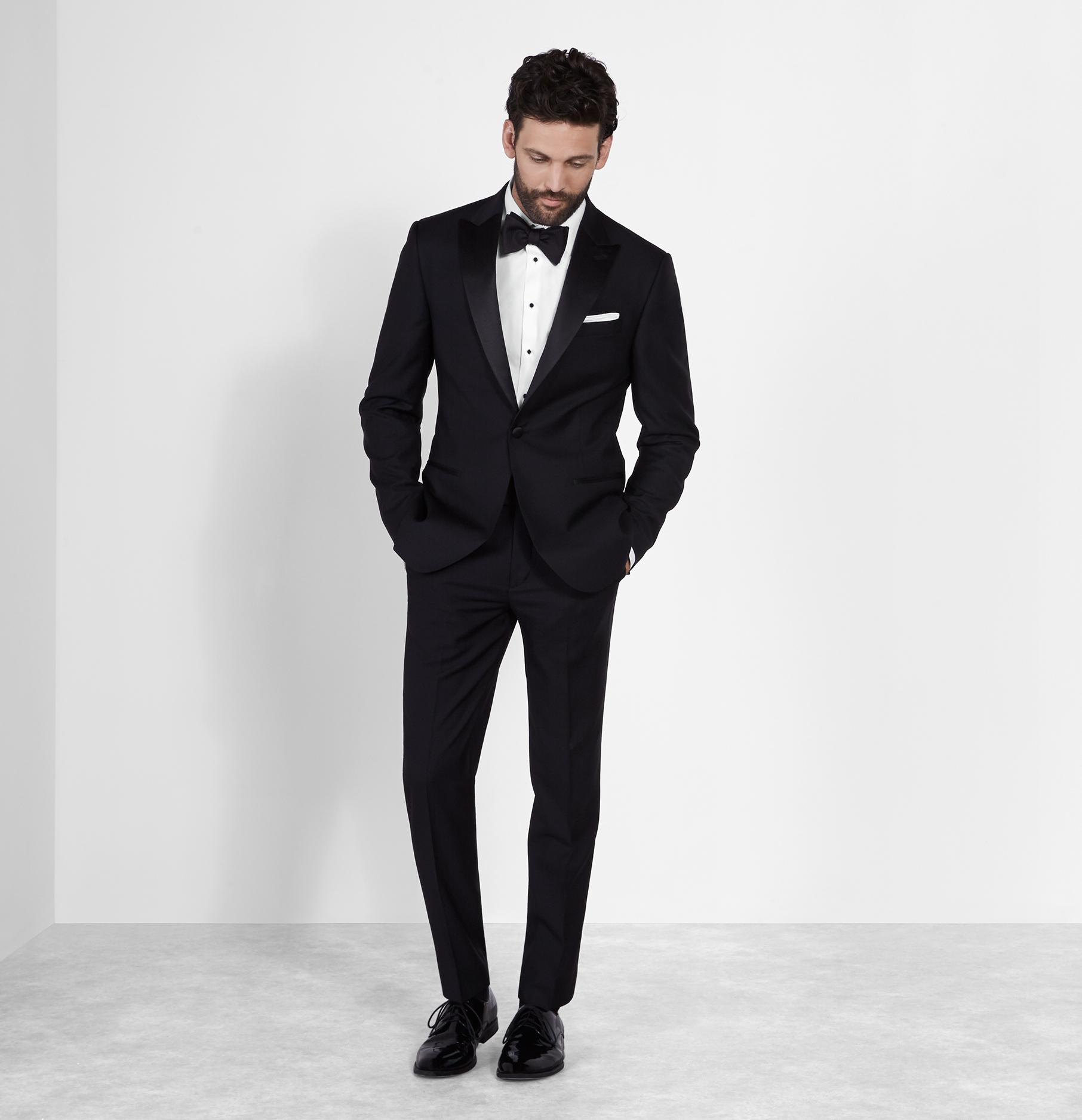 black tuxedo peak lapel tuxedo | the black tux QQWXPGK