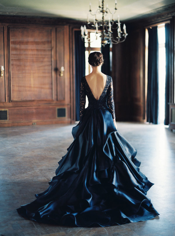 black wedding dresses 23 dark wedding dresses for brides who think white is trite ZNXECIS