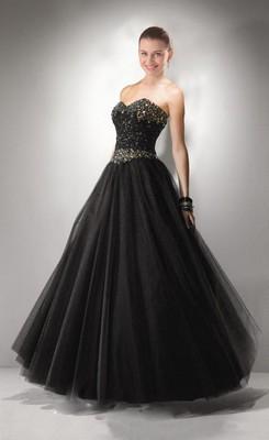 black wedding dresses hot beading sweetheart tulle black wedding dress XSFVSOB