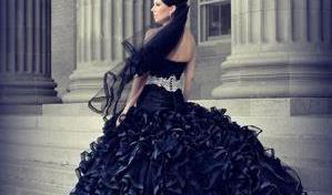black wedding dresses KKNXFXB