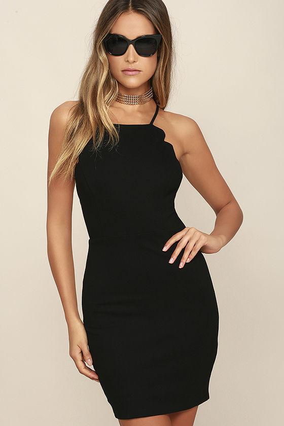 body con dress heartu0027s content black bodycon dress 1 WIPVSMW