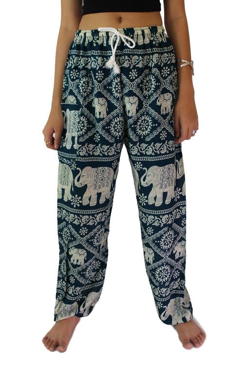bp010 - thai hippie pants/harem pants/boho green PYLUGFR
