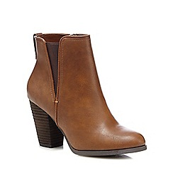 brown ankle boots call it spring - brown u0027pydiau0027 high block heel ankle boots HSIPPEO