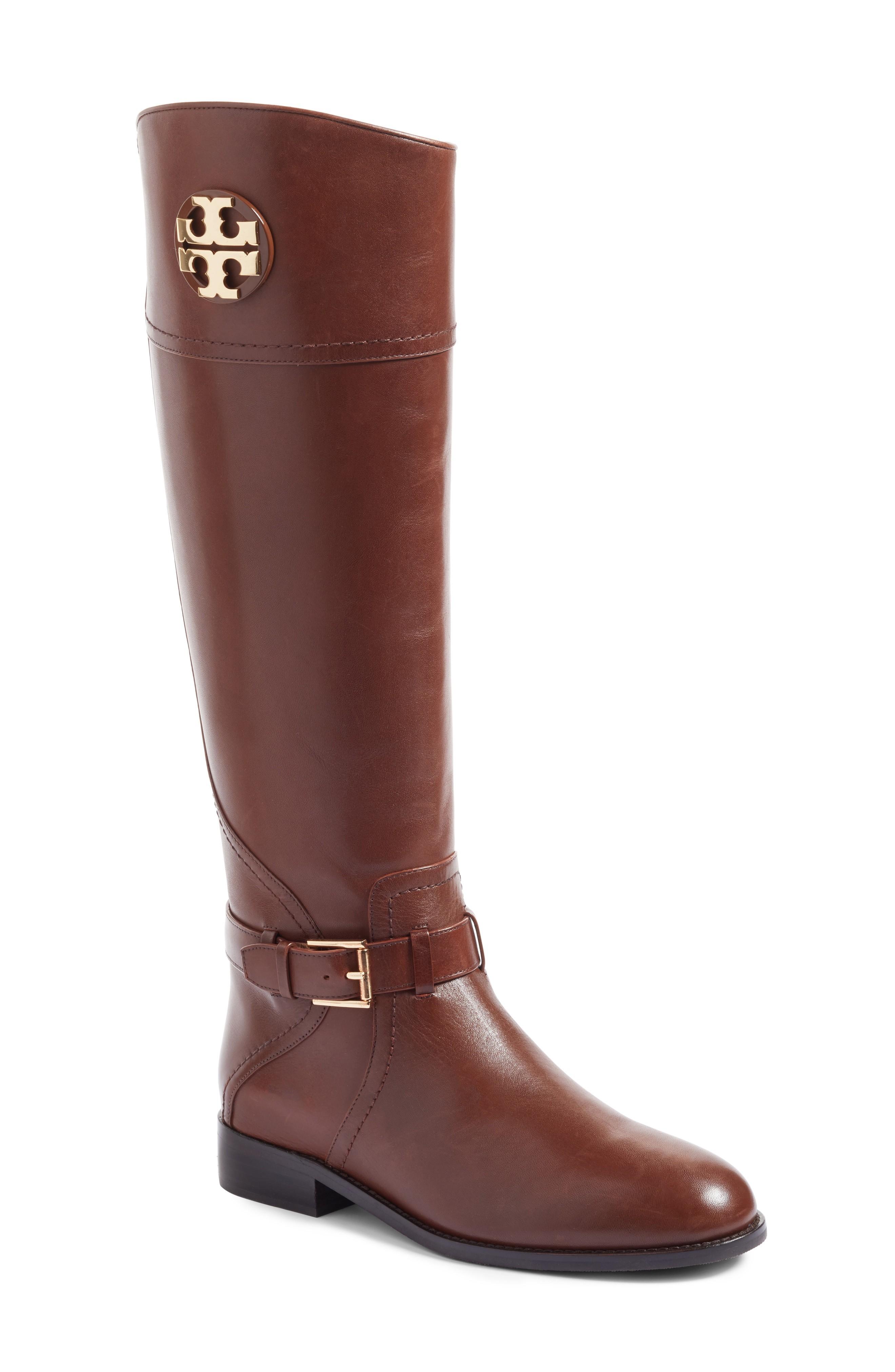 brown boots tory burch adeline boot (women) (regular u0026 wide calf) | nordstrom MSUQAGT