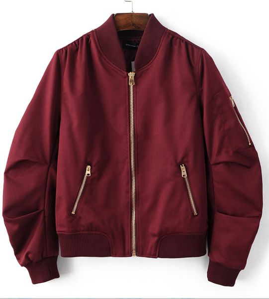 burgundy red pleated bomber jacket BPHMJSD
