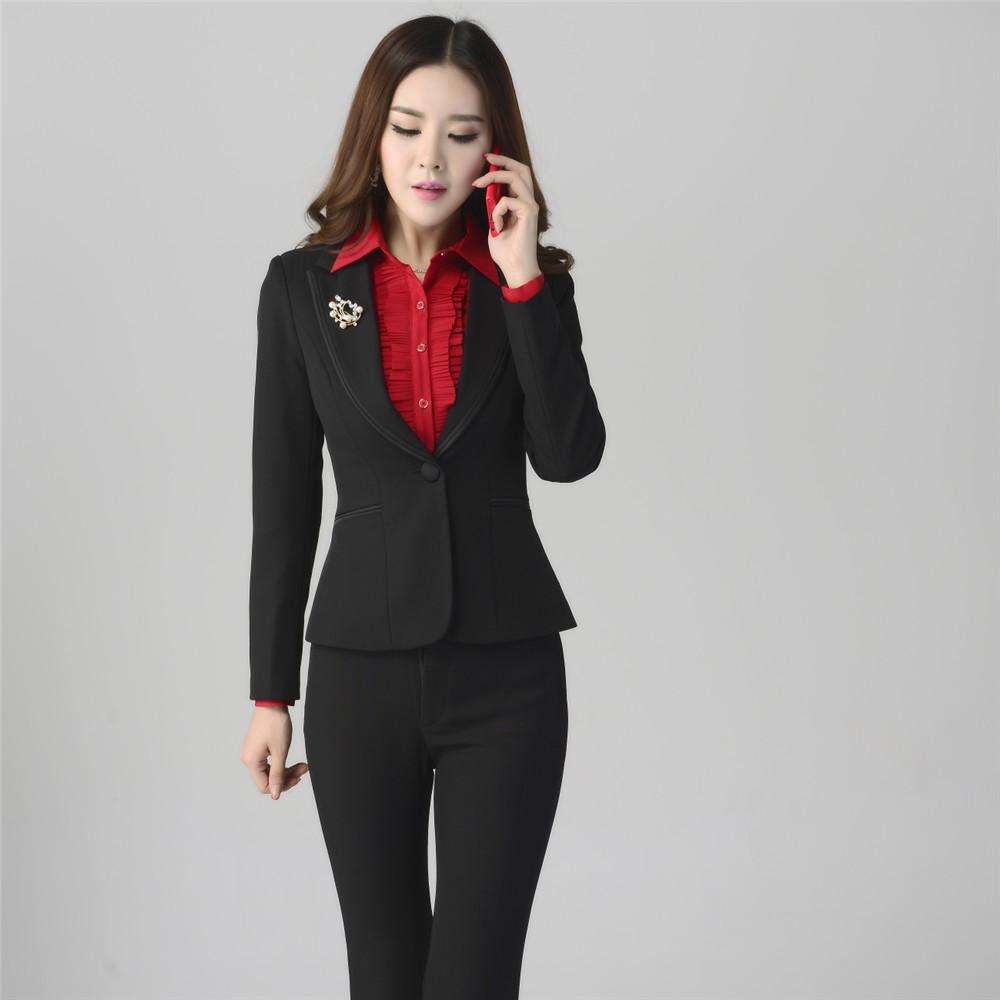 business suits for women 2016 women sets womens business suits black pants suit formal ol female business  suit UUFGAJV