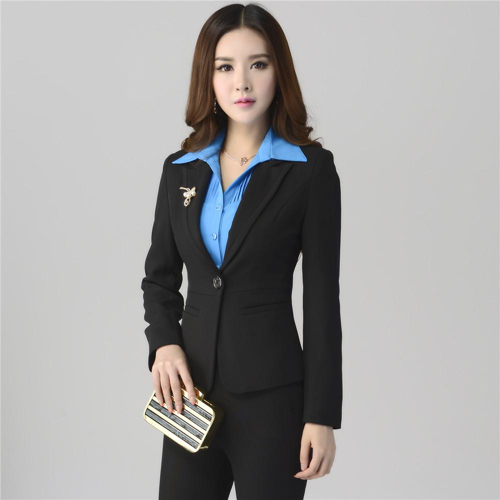 business suits for women womenu0027s business suits formal office pant suits female work wear sets one  button uniform JNHFSBW