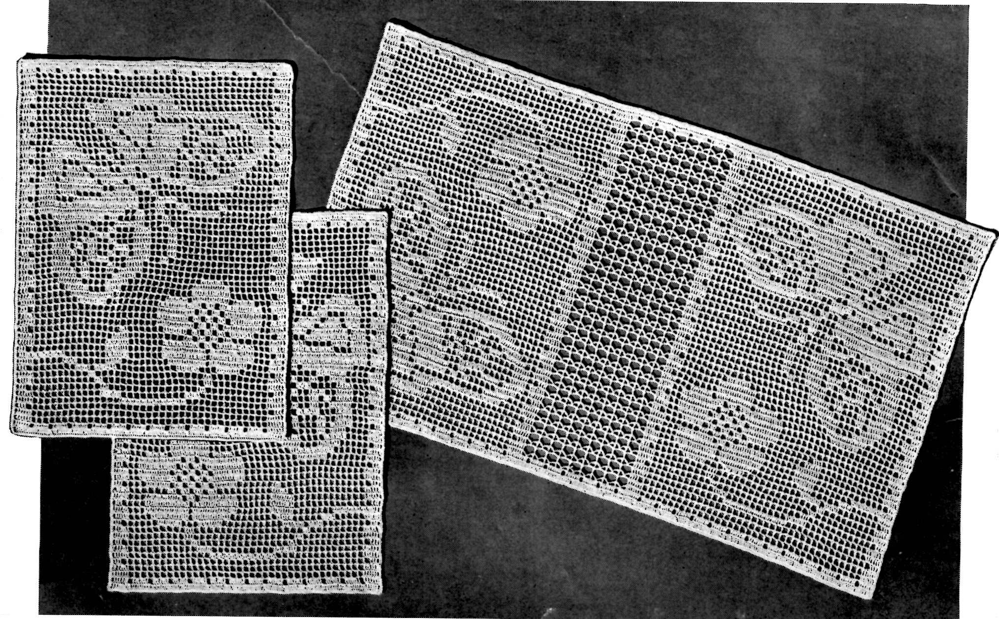 butterflies in the garden filet crochet pattern - vintage crafts and more CIIOMTF