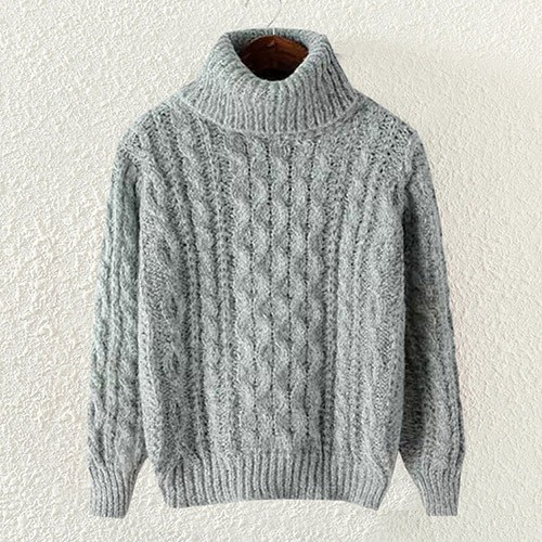 cable knit jumper grey casual high neck cable knit pullover polyester jumper-st0230138-1 OIOBQPN