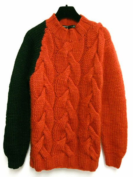 cable knit jumper with contrast sleeve - balenciaga22,800 円 note: i canu0027 PRLPQAJ