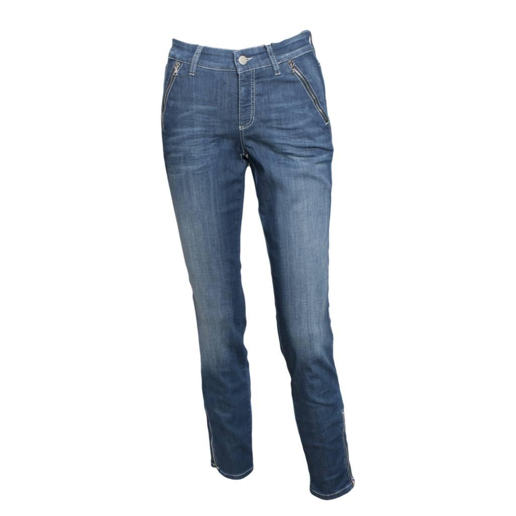 cambio jeans cambio cambio parla zip jeans - denim ... ZKFWBRU