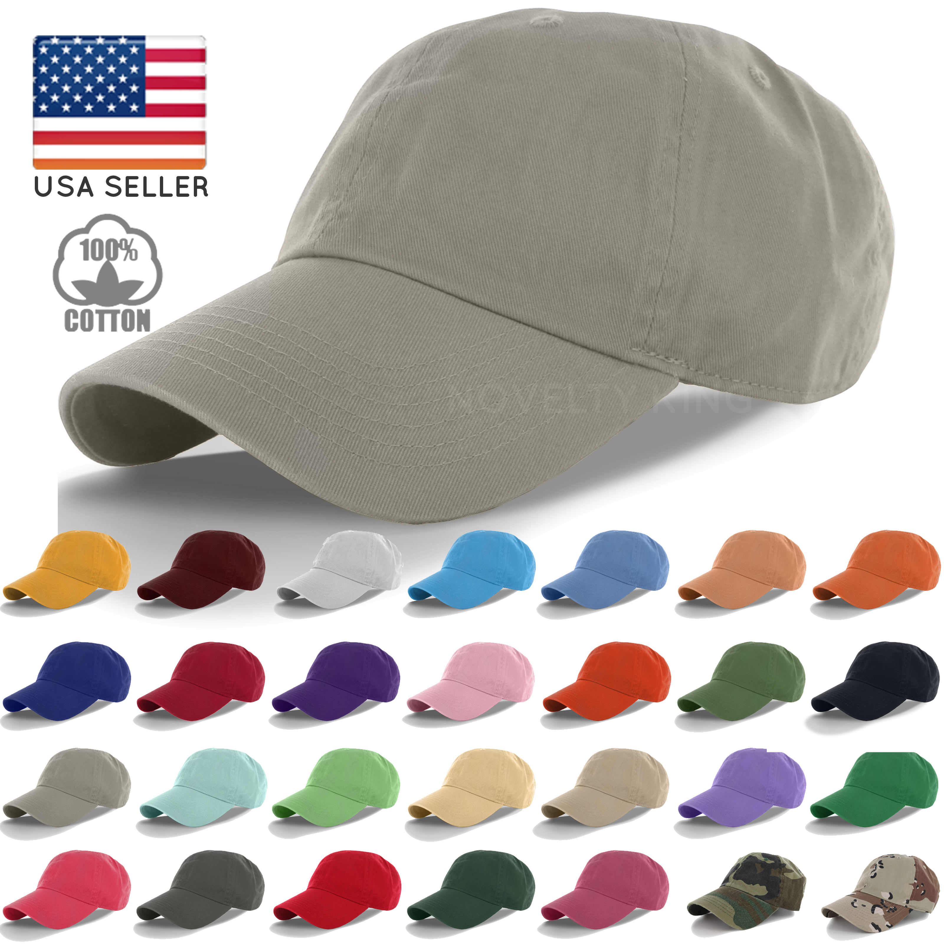 cap hat cotton cap baseball caps hat adjustable polo style washed plain solid visor SEGEIOF